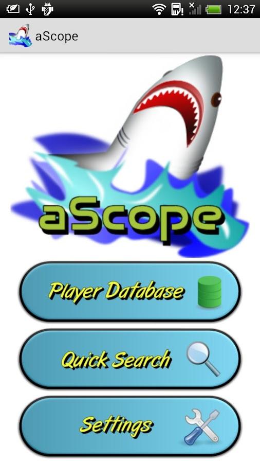 aScope Poker Tournament Lookup - screenshot