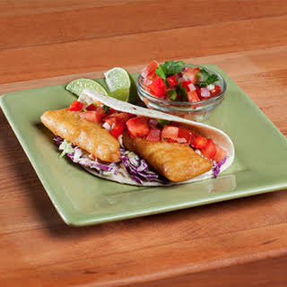 The Neelys' Fish Tacos with Easy Cabbage Slaw.