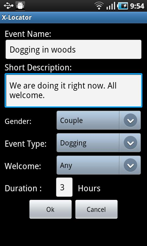 X-Locator Dogging App - screenshot