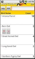 Screenshot of BirdCountz Lite