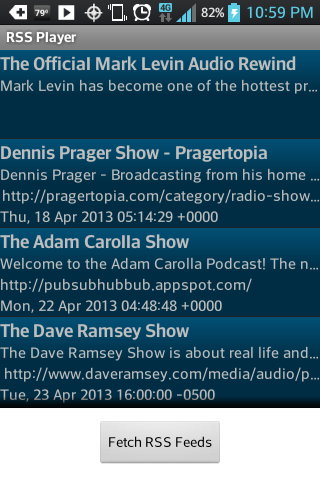 Mark Levin Podcast RSS- screenshot