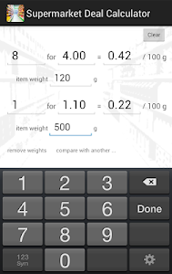 Supermarket Deal Calculator screenshot 2