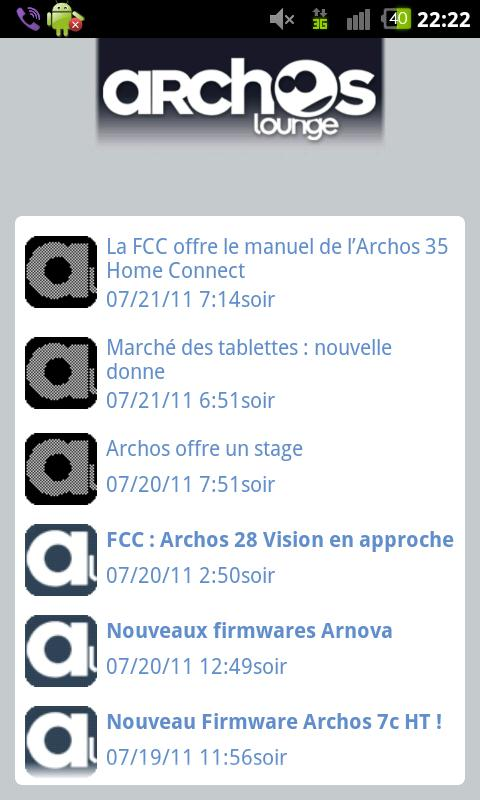Le Flux RSS d'ArchosLounge - screenshot