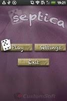 Screenshot of Septica Card Game