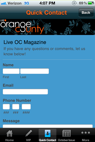 OC Live Magazine - screenshot
