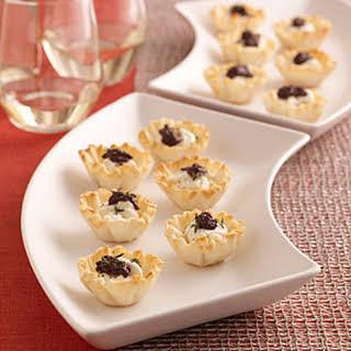 Goat Cheese-and-Olive Mini Tarts.