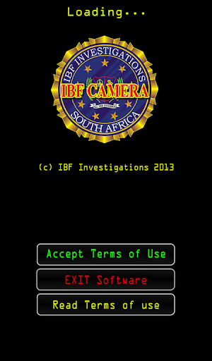 IBF Crime Scene Camera