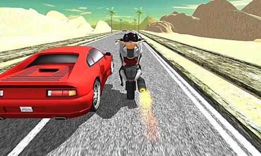 摩托车交通赛车