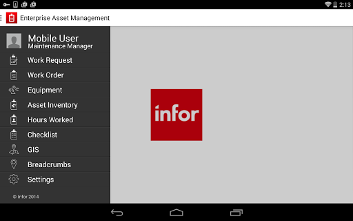 Infor EAM Mobile Connected