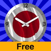 Japan Flag Clock