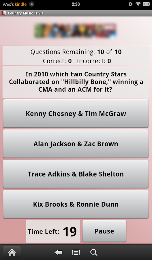 Country Music Trivia- screenshot