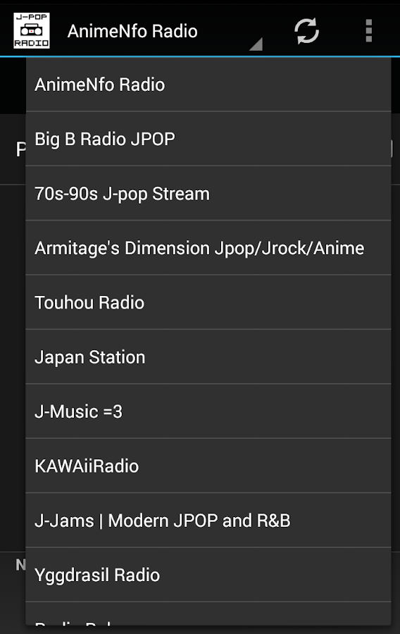 J-POP Radio - screenshot