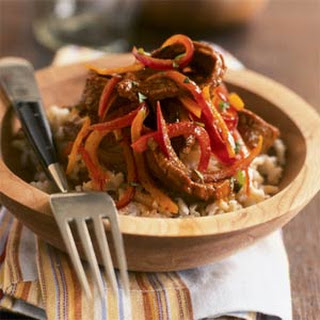 Mexican Flank Steak with Brown Rice.