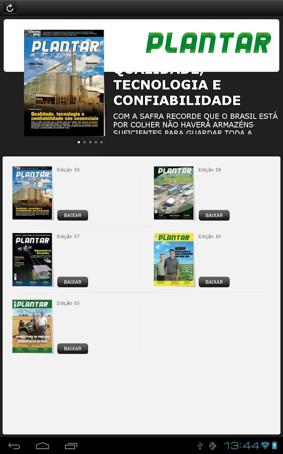 Revista Plantar - screenshot