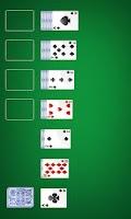 Screenshot of Solitaire Phone App