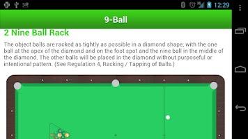 Screenshot of Billiard Rules