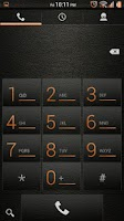 Screenshot of Leather Orange CM11/AOKP Theme