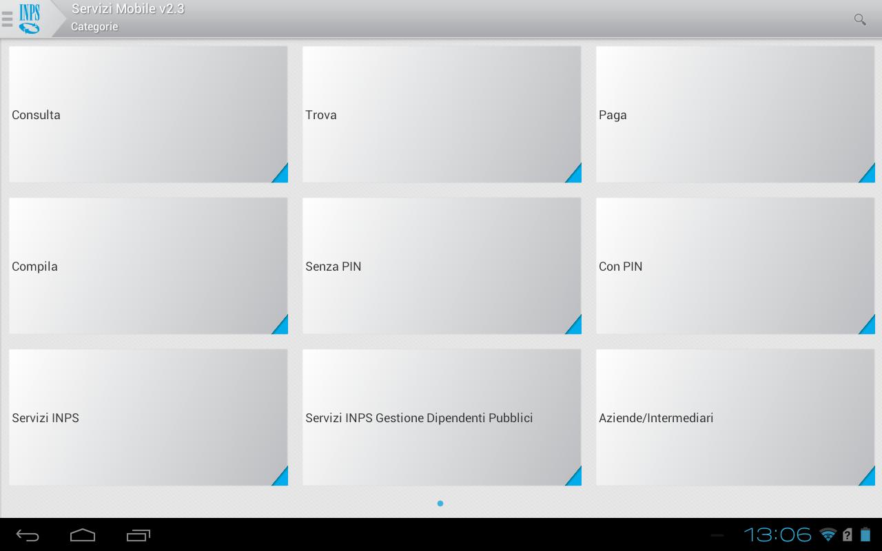 INPS Servizi Mobile per Tablet - screenshot