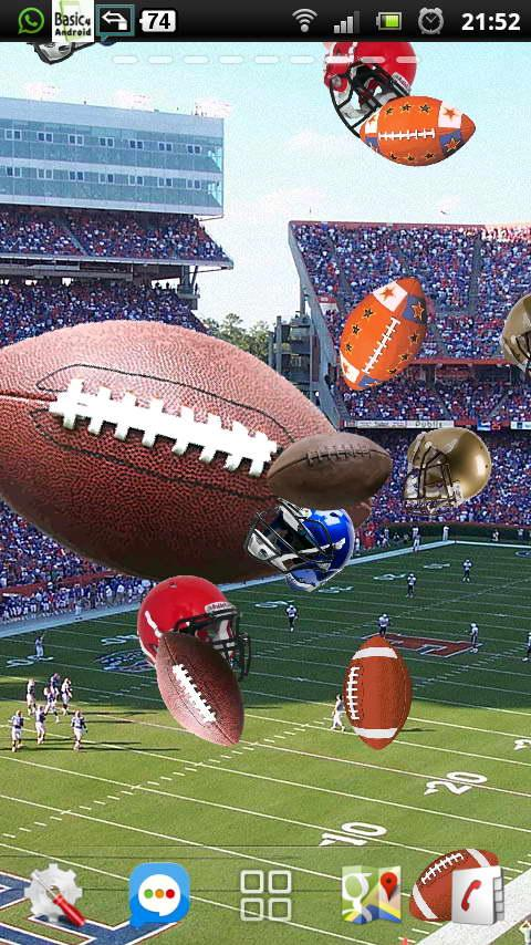 football ball rugby LWP- screenshot