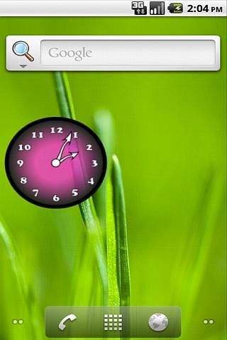 Analog Clock Pink