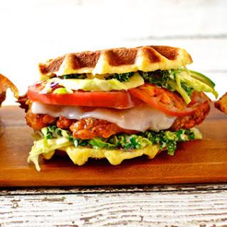 Fried Chicken & Liege Waffle Sandwich