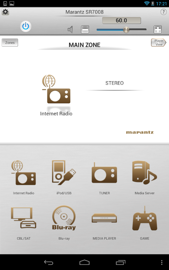 Marantz Remote App- screenshot