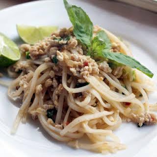 Ming Tsai's Crazy Chicken-Rice Noodle Stir-Fry.