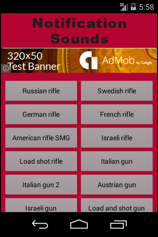 Sounds Weapons Notifications