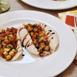 Veggie Tacos with Balsamic Glaze - Vegan