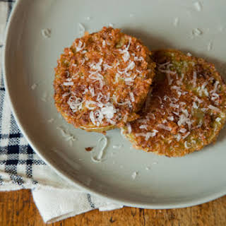 Fried Green Tomatoes with Panko and Parmesan.