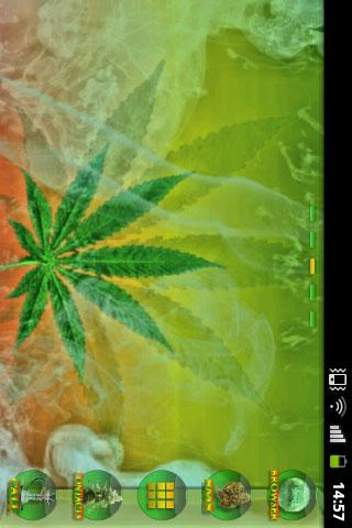 GO Launcher Ganja Weed Theme- screenshot