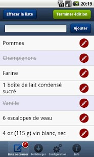 Liste de courses PC à Android- screenshot thumbnail