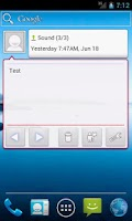 Screenshot of Message Widget (SMS/MMS)