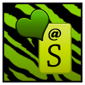 KB SKIN - Green Zebra Hearts icon