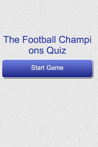 The Football Champions Quiz