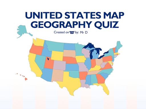 US States Map Quiz - 50 States