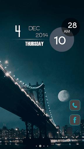 【免費個人化App】月亮午夜曼哈頓主題-APP點子