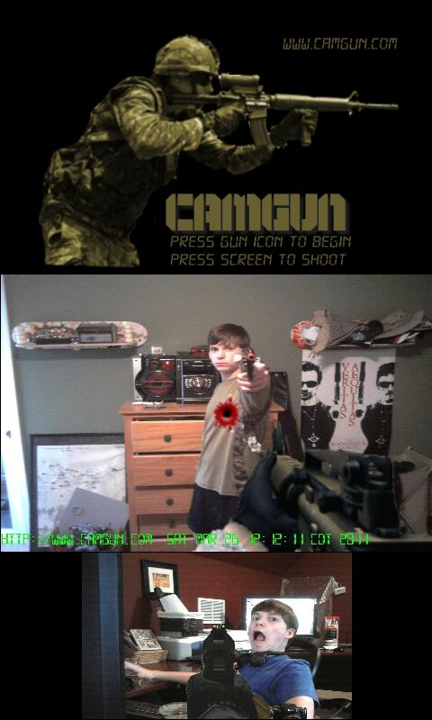CamGun Free Demo (Camera Gun)- screenshot