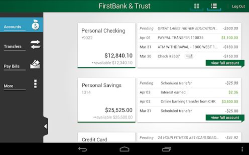 FirstBank & Trust - screenshot thumbnail