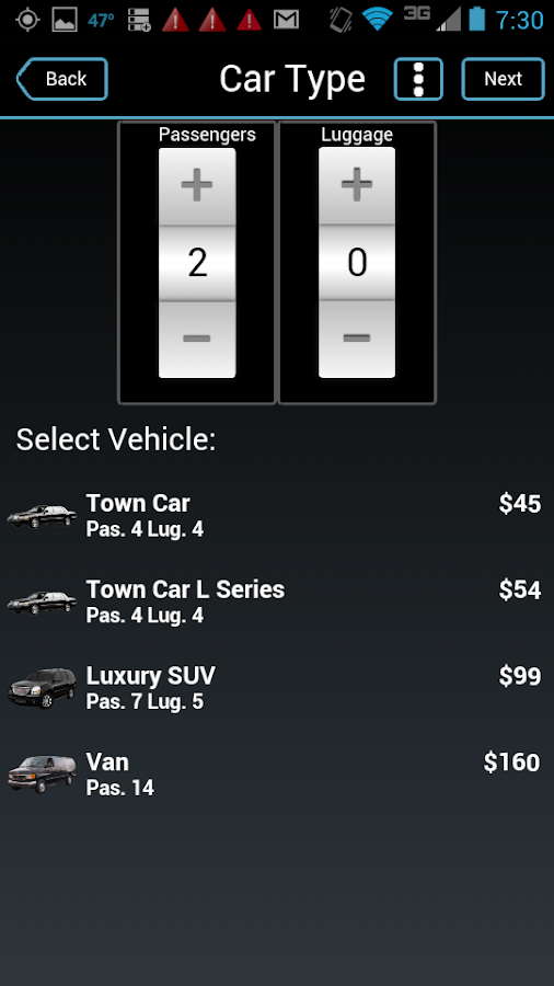 Limosys Mobile- screenshot