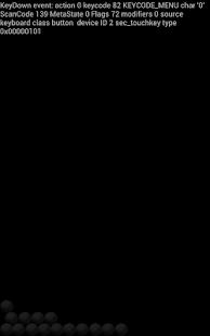 Input events logger screenshot