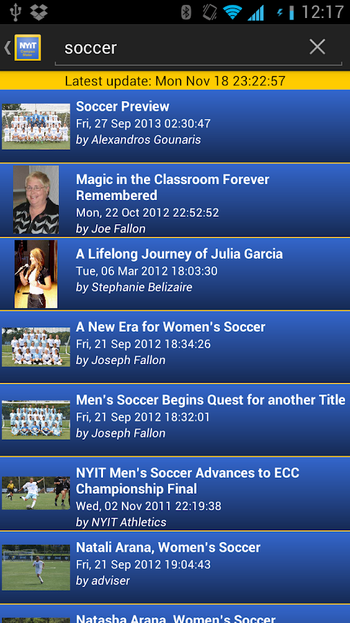 NYIT Pocket Campus Slate- screenshot