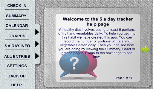 5 a Day Tracker Tablet Edition