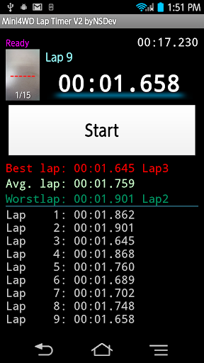 Mini4WD Lap Timer V2 byNSDev 1.2.3 Windows u7528 3