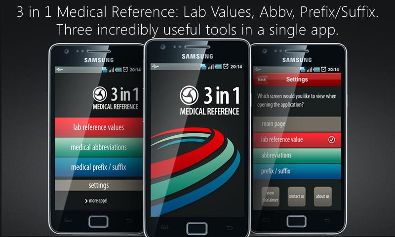 Lab Values + Medical Reference - screenshot
