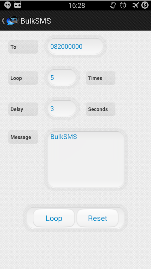 BulkSMS- screenshot