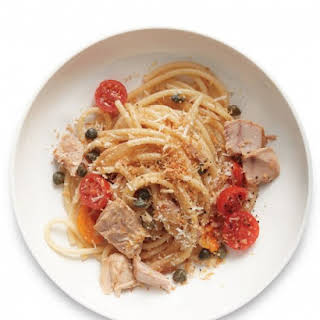 Spaghetti with Tuna, Capers, and Tomatoes.