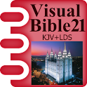 Visual Bible 21 KJV + LDS logo