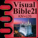 Visual Bible 21 KJV + LDS logo