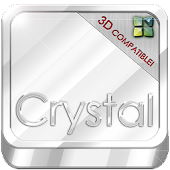 Next Launcher Theme Crystal 3D